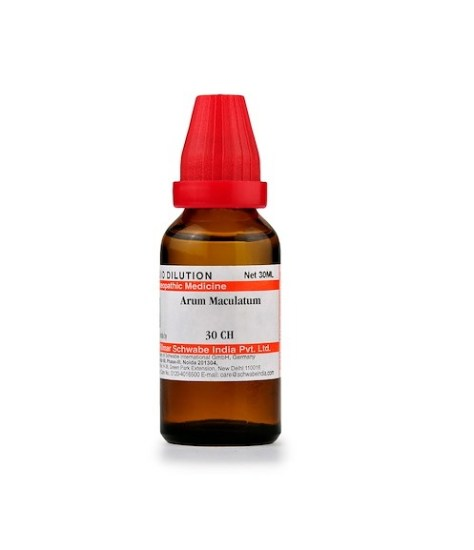 Schwabe Arum Maculatum Homeopathy Dilution 6C, 30C, 200C, 1M, 10M