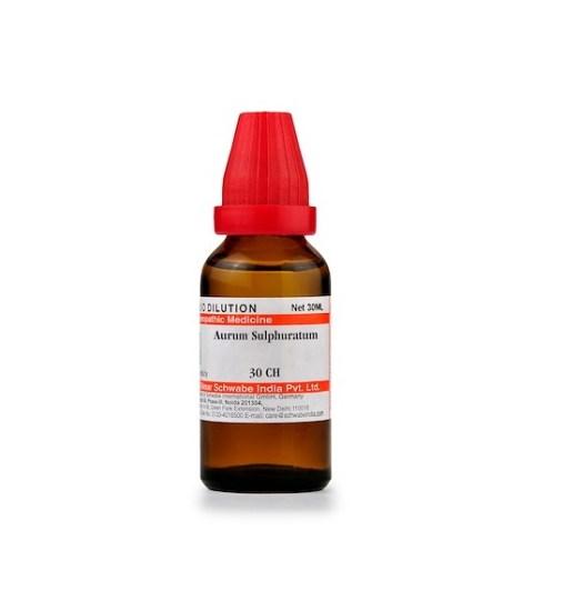 Schwabe Aurum Sulphuratum Homeopathy Dilution 6C, 30C, 200C, 1M, 10M, CM