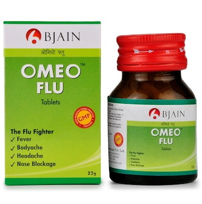 BJain Omeo Flu Tablets for Fever, Body ache, Nose Blockage