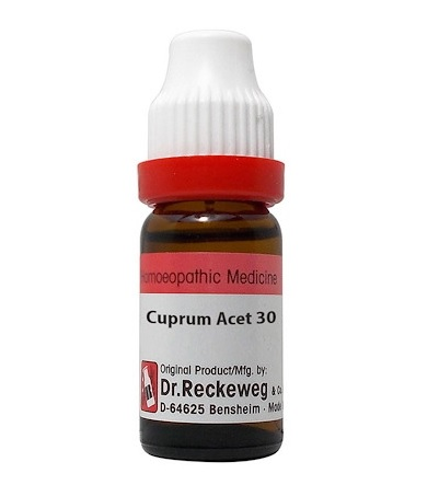Dr Reckeweg Germany Cuprum Aceticum Homeopathy Dilution 6C, 30C, 200C, 1M, 10M, CM