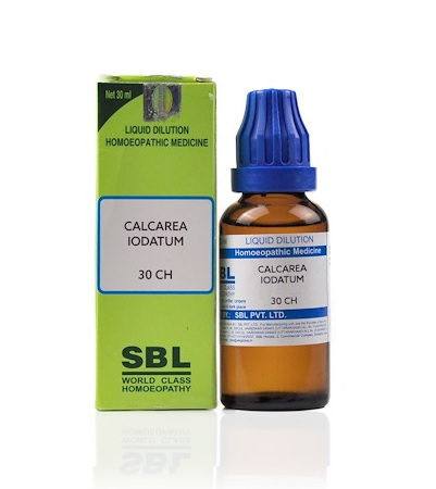 SBL Calcarea Iodatum Homeopathy Dilution 6C, 30C, 200C, 1M, 10M, CM