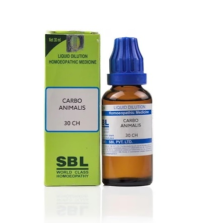 SBL Carbo Animalis Homeopathy Dilution 6C, 30C, 200C, 1M, 10M, CM