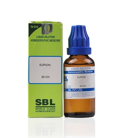 SBL Eupion Homeopathy Dilution 6C, 30C, 200C, 1M, 10M, CM