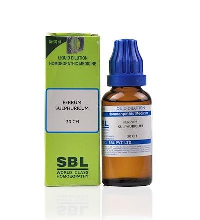 SBL Ferrum Sulphuricum Homeopathy Dilution 6C, 30C, 200C, 1M, 10M, CM