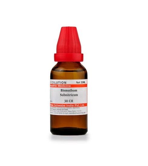 Schwabe Bismuthum Subnitricum Homeopathy Dilution 6C, 30C, 200C, 1M, 10M