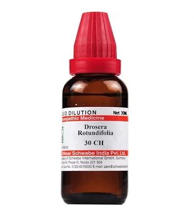 Schwabe Drosera Rotundifolia Homeopathy Dilution 6C, 30C, 200C, 1M, 10M, CM
