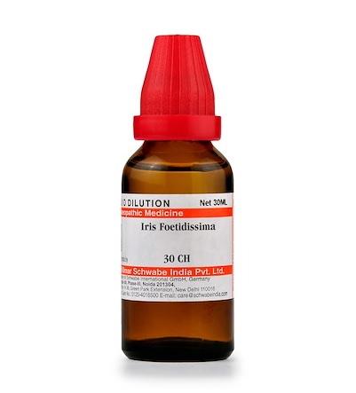 Schwabe Iris Foetidissima Homeopathy Dilution 6C, 30C, 200C, 1M, 10M