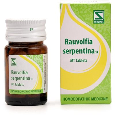 Schwabe Rauvolfia Serpentina 1x Tablet is a homeopathy high blood pressure medicine, treats hypertension, emotional excitability