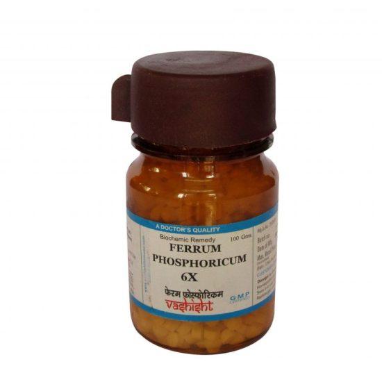 Dr.Vashisht Ferrum Phosphoricum Biochemic Tissue Salts 6x