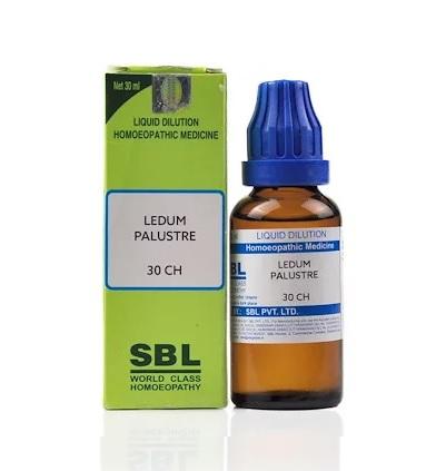SBL Ledum Palustre Homeopathy Dilution 6C, 30C, 200C, 1M, 10M