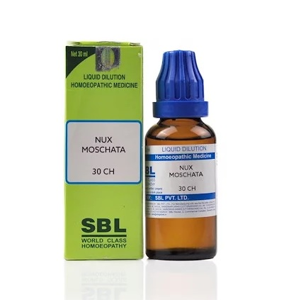 SBL Nux Moschata Homeopathy Dilution 6C, 30C, 200C, 1M, 10M