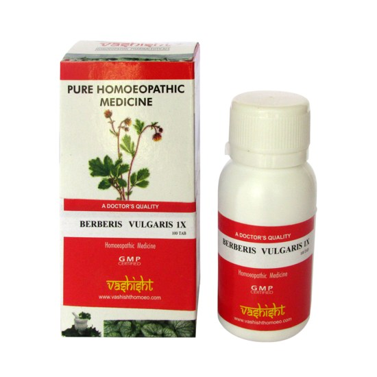 Vashisht Berberis Vulgaris 1x Mother Tincture Tablets for Kidney stones, pain