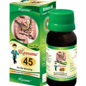 Blooume 45 Wormosan Syrup, Homeopathy Medicine for Worms