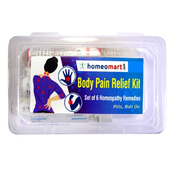 Homeopathy body pain relief medicine kit with Rhus Toxicodendron Symphytum officinale apis melifica dulcamara