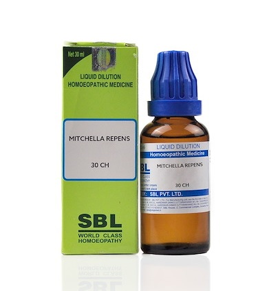 SBL Mitchella Repens Homeopathy Dilution 6C, 30C, 200C, 1M, 10M