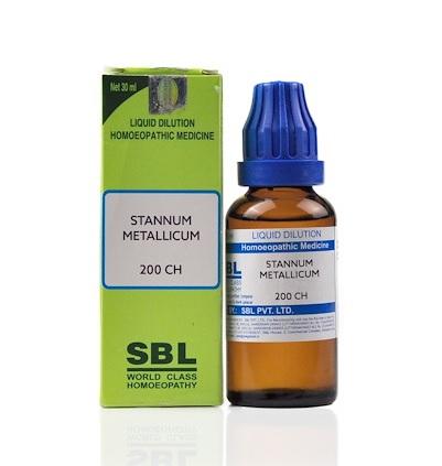 SBL Stannum Metallicum Homeopathy Dilution 6C, 30C, 200C, 1M, 10M