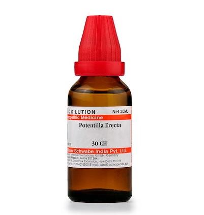 Schwabe Potentilla Erecta Homeopathy Dilution 6C, 30C, 200C, 1M, 10M