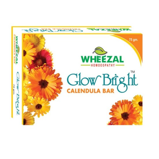 Wheezal Glow Bright Calendula With Berberies Glycerine Bar for Healthy Skin