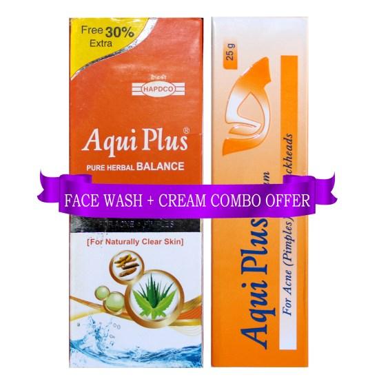 Aqui Plus Skin Care combo in Cream and Face Wash