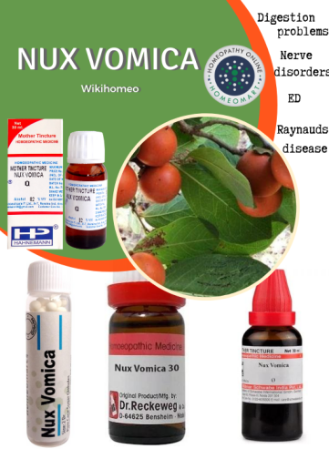 Nux Vomica Homeopathy medicine in mother tincture dilutions pills