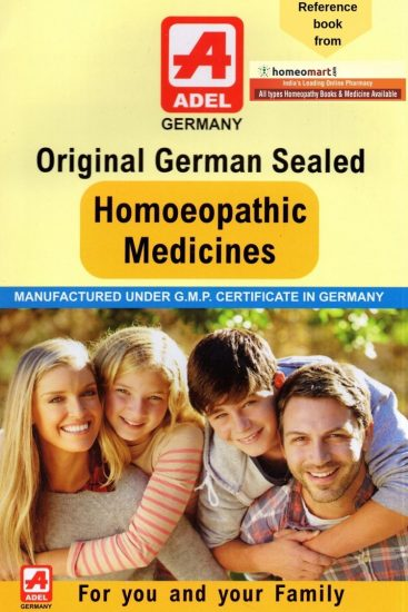 Original German Sealed Homoeopathic medicines for you & your family, Adel Booklet in English. 69 Pages