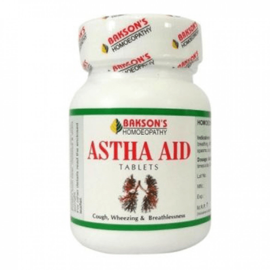 Bakson Astha Aid Tablets for Cough, Wheezing & Breathlessness