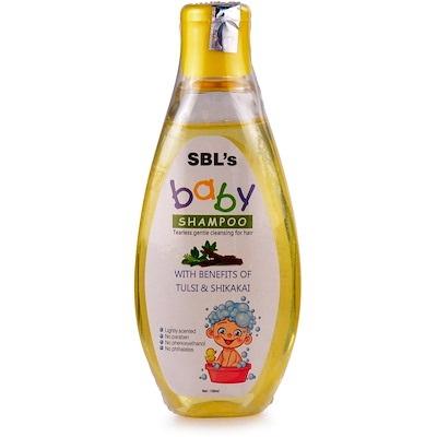 SBL Baby Tearless Shampoo with tulsi, shikakai for soft hair