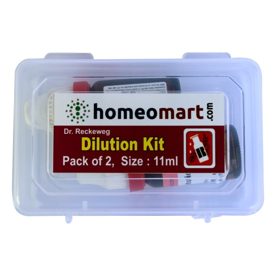 Homeomart Homeopathic Dilution Kit Pack of 2 from Dr Reckeweg Germany 11ml each