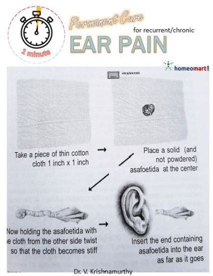 one minute permanent cure for ear pain