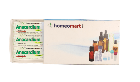 Anacardium homeopathy pellets