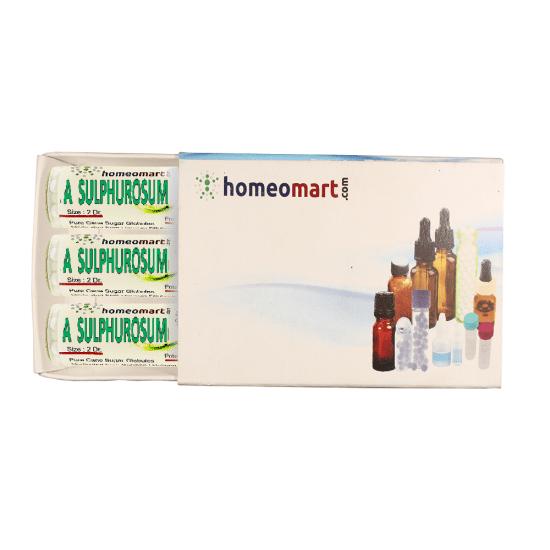 Acidum Sulphurosum Homeopathy 2 Dram Pellets 6C, 30C, 200C, 1M, 10M