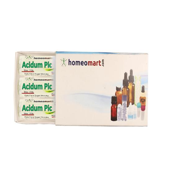 Acid Picricum Homeopathy 2 Dram Pellets 6C, 30C, 200C, 1M, 10M