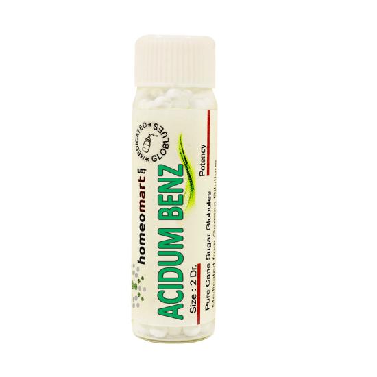 Acidum benz x Homeopathy 2 Dram Pellets 6C, 30C, 200C, 1M, 10M