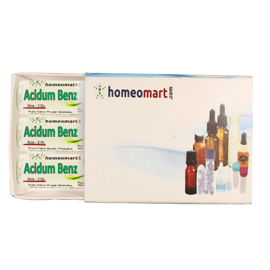 Acidum benz x Homeopathy 2 Dram Pellets 6C, 30C, 200C, 1M, 10M
