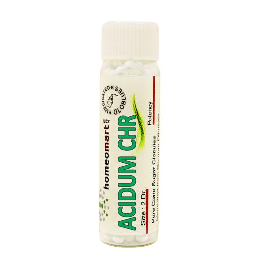 Acidum Chromic Homeopathy 2 Dram Pellets 6C, 30C, 200C, 1M, 10M
