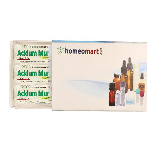 Acidum Muriaticum Homeopathy 2 Dram Pellets 6C, 30C, 200C, 1M, 10M