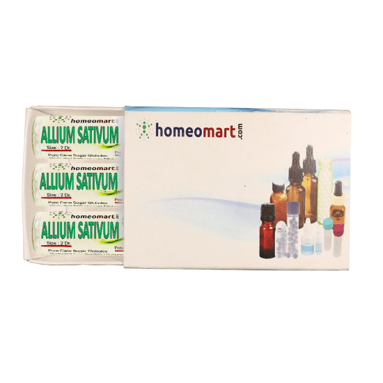 Allium Sativum Homeopathy 2 Dram Pellets 6C, 30C, 200C, 1M, 10M
