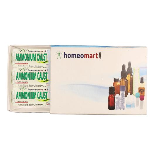 Ammonium Caust Homeopathy 2 Dram Pellets 6C, 30C, 200C, 1M, 10M