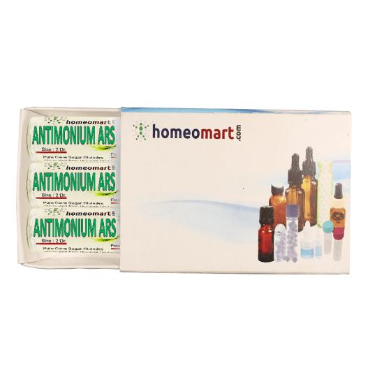 Antimonium Arsenicicum Homeopathy 2 Dram Pellets 6C, 30C, 200C, 1M, 10M