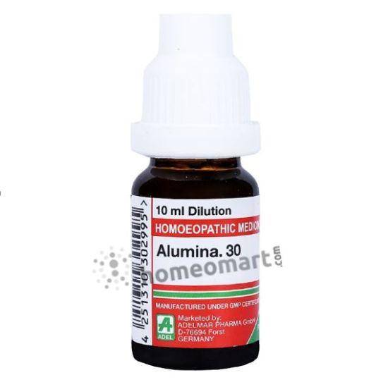 Adel Alumina Homeopathy Dilution 6C, 30C, 200C, 1M