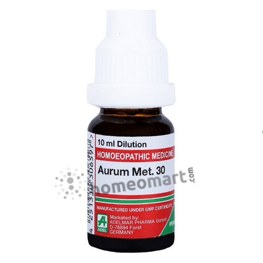 Adel Aurum Met Homeopathy Dilution 6C, 30C, 200C, 1M