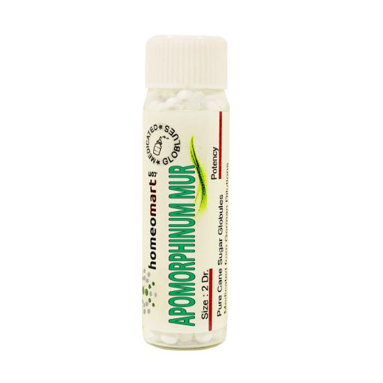 Apomorphinum Muriaticum Homeopathy 2 Dram Pellets 6C, 30C, 200C, 1M, 10M