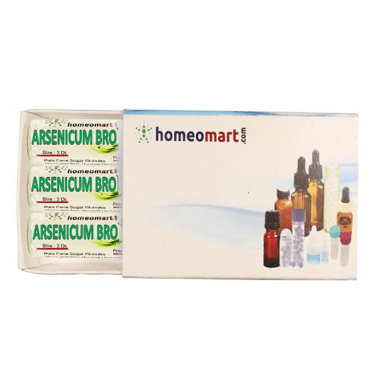 Arsenicum Brom Homeopathy 2 Dram Pellets 6C, 30C, 200C, 1M, 10M