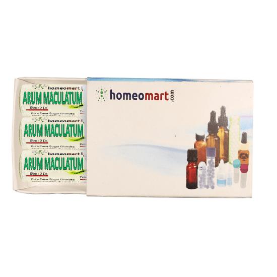 Arum Maculatum Homeopathy 2 Dram Pellets 6C, 30C, 200C, 1M, 10M