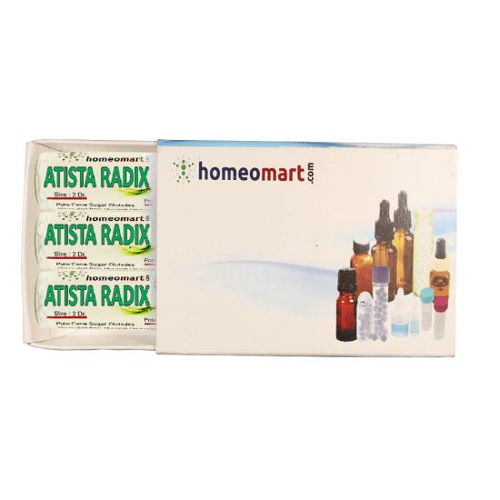 Atista Radix Homeopathy 2 Dram Pellets 6C, 30C, 200C, 1M, 10M