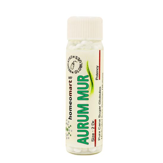 Aurum Muriaticum Homeopathy 2 Dram Pellets 6C, 30C, 200C, 1M, 10M