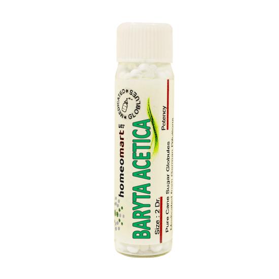 Baryta Acetica Homeopathy 2 Dram Pellets 6C, 30C, 200C, 1M, 10M