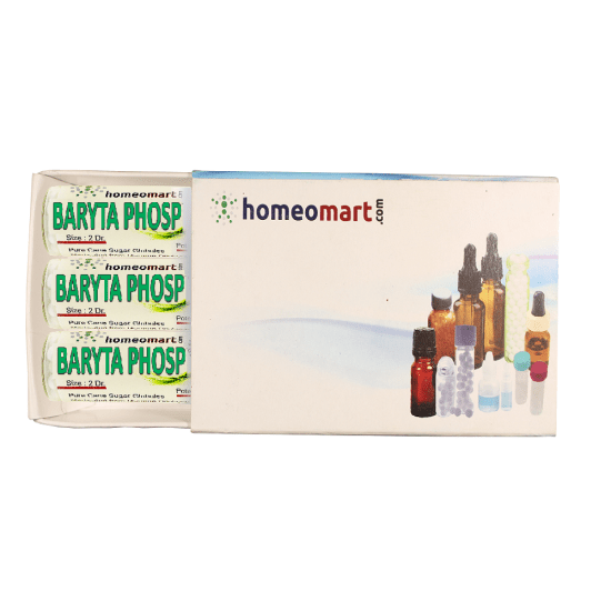 Baryta Phosphorica Homeopathy 2 Dram Pellets 6C, 30C, 200C, 1M, 10M