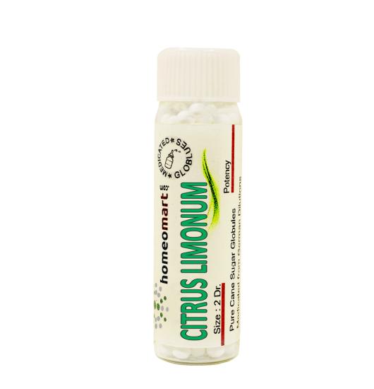 Citrus Limonum Homeopathy 2 Dram Pellets 6C, 30C, 200C, 1M, 10M