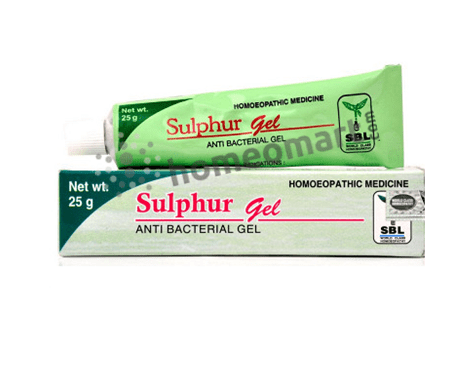 SBL Sulphur Gel for anti-bacterial, dry skin & pimples
